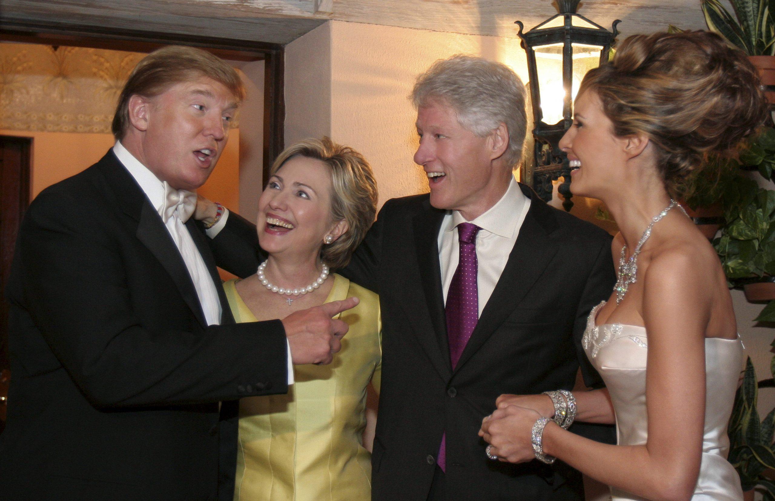 Melania Trump Wedding with Clintons