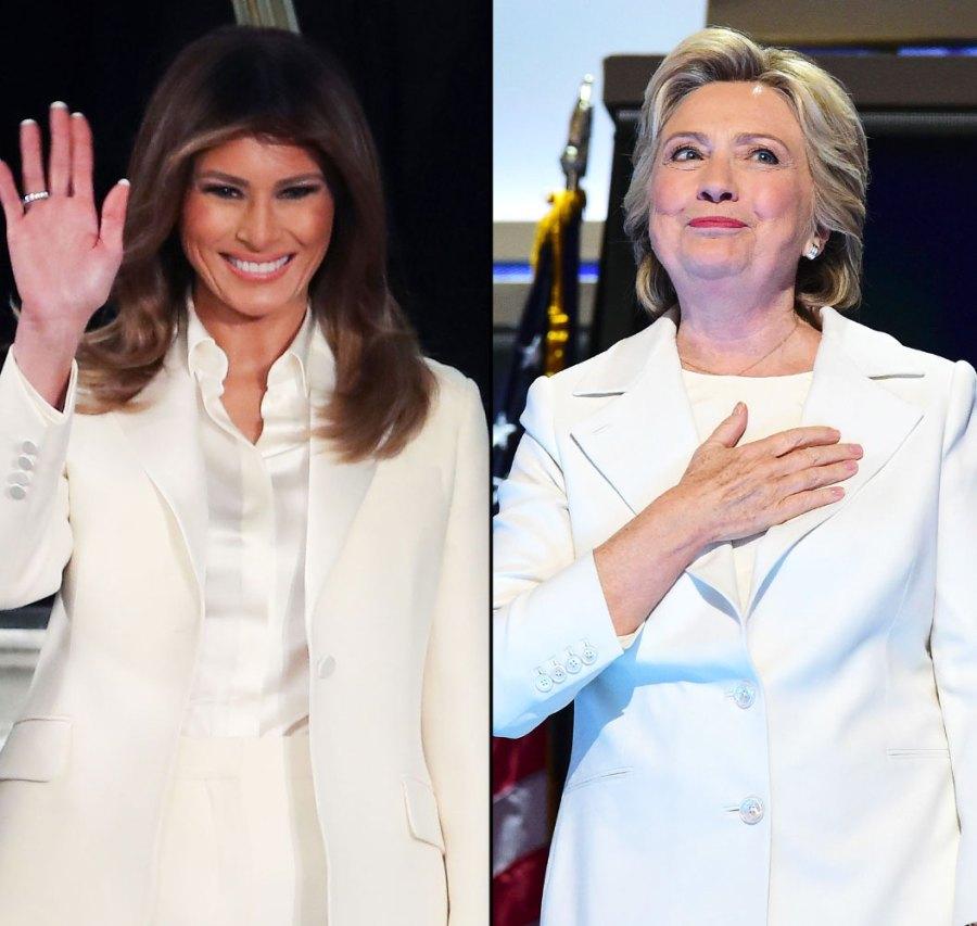 Melania Trump and Hillary Clinton