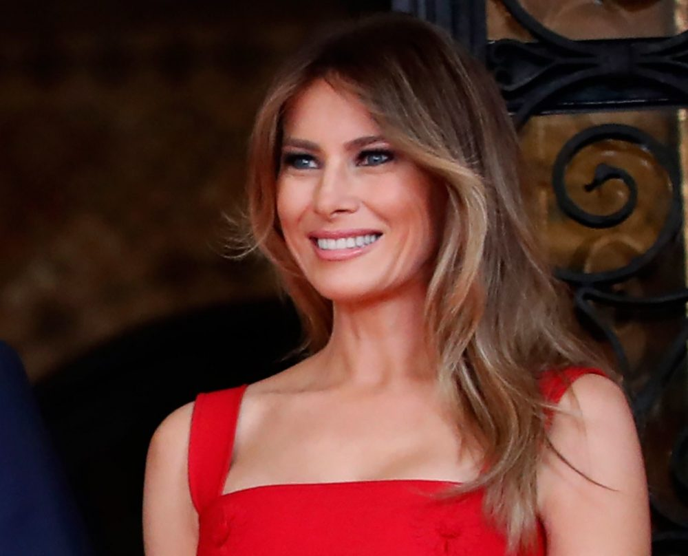 Melania Trump in Red Dress Outfit