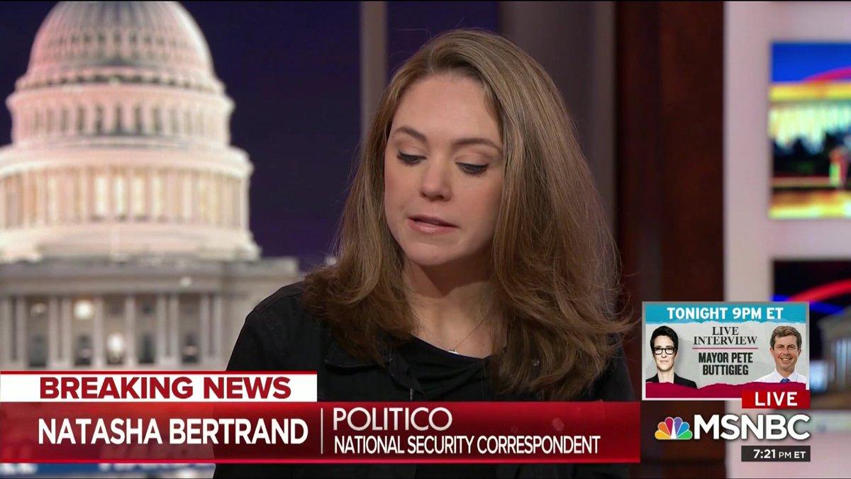 Natasha Bertrand and MSNBC